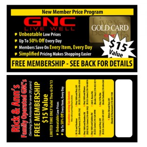 1,000 Gold Card Member Program Post Cards